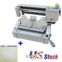 110V A4 Size Book Binding Machine Book Binder + 6LBS Hot Melting Glue Pellets US
