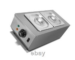 220V 2 Tanks Commercial Chocolate Melting Pot Electric Hot Chocolate Melter