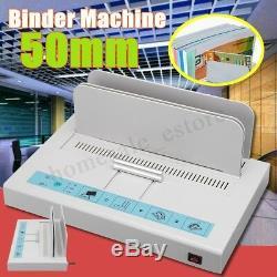 220V 50mm Electric Desktop Hot Melt Binding Machine Sheet Envelope For A4 Paper