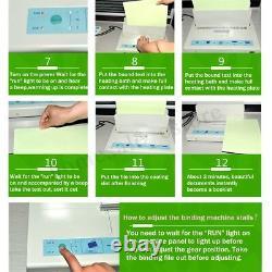 220V 50mm Electric Desktop Hot Melt Binding Machine Sheet Envelope For A