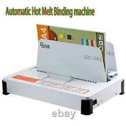 220V Automatic Hot Melt Binding Machine A3 A4 A5 Book Envelope Binder GD380