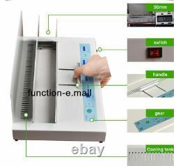 220V Hot Melt Binding Machine Melt Electric Book Binder for A3 A4 A5 A6 320X50mm