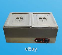 2-Pan Chocolate Melter Melting Machine Melt Hot Pot Kitchen Heat Catering Warm
