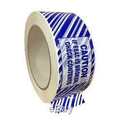 36 Rolls Tamper Evident Carton Sealing Hotmelt Tape 2 x 110 Yards, 1.9 Mil