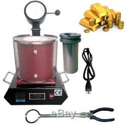 3KG Digital Melting Furnace Gold Silver Smelter 110V Graphite Crucible 1150 hot