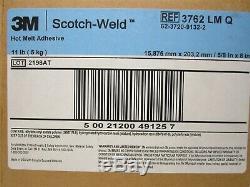 3M (3762 LM-Q) 5/8 x 8 Translucent Light Amber Hot Melt Glue Stick (11 lb Box)