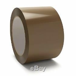 3 Inch x 110 Yards Premium Brown Hotmelt Packing Shipping Tape 2.44 Mil 48 Rolls