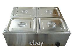 4 Pans Chocolate Melting Pot Digital Display Chocolate Melting Furnace Tool 110V
