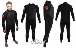 ALL SIZES. Full winter steamer 5/3 surf wetsuit by NCW. GBS hot melt taped seams