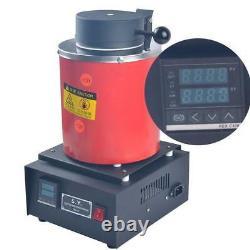 Automatic Melting Furnace Melt 2kg Silver & Gold Pour Bar Digital Controller hot