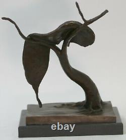 Bronze Sculpture Statue SALVADOR DALI MELTING CLOCK TRIBUTE ABSTRACT HOT CAST St