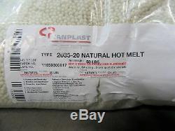 Canplast 2035 TOPMELT Pelletized Hot Melt Edgebander Glue, Natural Color, 50 LB