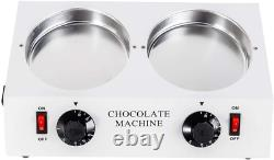 Chocolate Melter Electric Hot Chocolate Melting Tempering Machine Double Pots