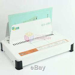 GD380 Automatic Hot Melt Binding Machine A3 A4 A5 Book Envelope Binder 220V