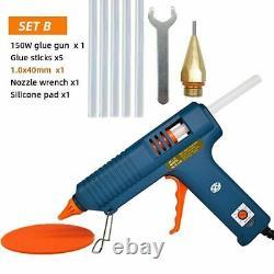 Glue Gun 150w Hot Melt Adjustable Temperature Nozzle 11mm Sticks PA66 Plastic