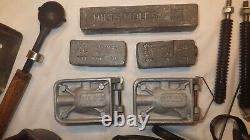 Hilts The Hot 1 Lead Melting Cast Iron Ladle 120v 400w & 2 Bullet Molds