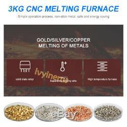 Hot 110V 3KG Melting Furnace Kiln Gold Silver Ingot Bullion Graphite Crucible