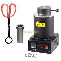 Hot Automatic Melting Furnace Melt 2kg Gold Pour Bar Digital Controller US Plug