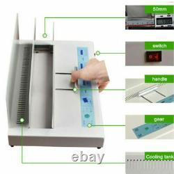 Hot Melt Binding Machine Melt Electric Book Binder for A3 A4 A5 A6 320X50mm 220V