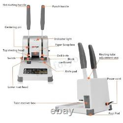 Hot Melt Book Paper Sheet Hole Electric Binding Machine Desktop Punching U