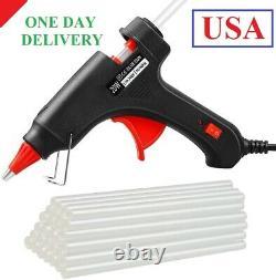 Hot glue gun, 20W Temp Mini Melt Glue Gun with 30PCS Glue sticks, Heating Fast
