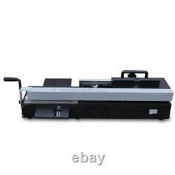 Manual A4 Desktop Hot Melt Binding Machine Glue Book Paper Binder Machine US NEW