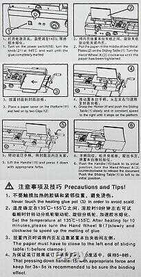 Manual Hot Melt Glue Book Binding Machine Thickness A4 For Photo Album Paper