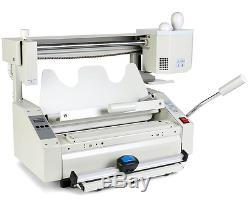 NEW 4 in 1 HOT MELT GLUE BOOK BINDER PERFECT BINDING MACHINE A4 SIZE 220V y