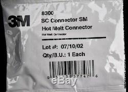 NEW SEALED Lot 60 3M 8300 Fiber Optic SC Single Mode SM Hot Melt Connector
