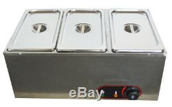 New Model Three Pan Chocolate Melter Electric Melting Machine Melt Hot Pot USA