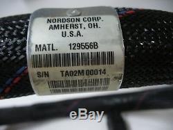 New Nordson 4' Hot Melt Adhesive Hose Model# 129556B, 200 Volts, 100 Watts