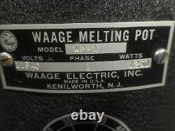 New WAAGE MELTING COATING HOT DIP TANK POT SINGLE PHASE 115V WP8A 1250 WATTS NOS