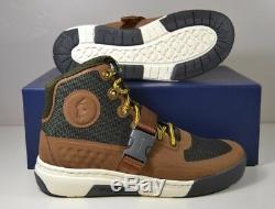 Nib Men Polo Ralph Lauren Ranger 200 Tan/olive Leather/hotmelt Boots Shoes Sz 8