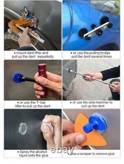 Paintless Dent Repair Hnad Car Puller Kit Bridge Golden Lifter Hot Melt Gun Glue