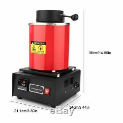Professional 2KG Electric Melting Furnace Gold Silver Copper Smelter 110V US Hot
