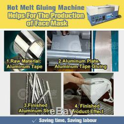 RJ-600 EPE Hot Melt Gluing Machine Fast Melting Speed and no Yellow Glue