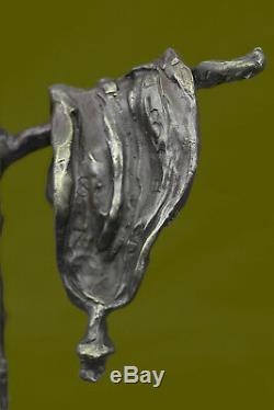 Salvador Dali Melting Clock Tribute Bronze Sculpture Abstract Hot Cast Home Deco
