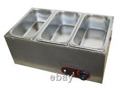 TECHTONGDA 3-Pan Chocolate Melter Warmer Melting Machine Hot Warmer New