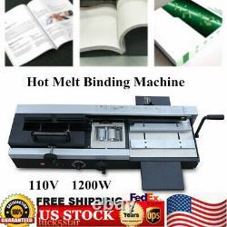 Top Wireless A4 Book Binding Machine Hot Melt Glue Book Paper Binder US