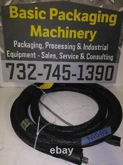 Unused Nordson 16' Hot Melt Adhesive Hose Model 104008B, Rectangle Plug