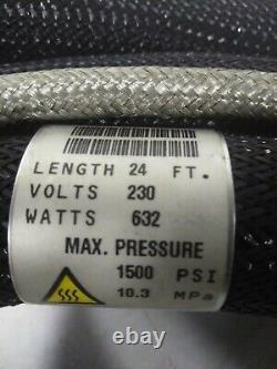 Unused Nordson 24' Hot Melt Adhesive RTD Hose # 274797D, Current Rectangle Plug