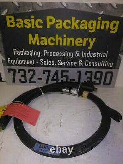 Unused Nordson 6' Hot Melt Adhesive Hose Model # 274792D, Rectangle Plug