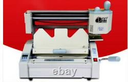 Upgrade A4 book binding machine hot melt adhesive book paper binder piercer