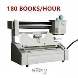 Wireless A4 Size Book Binding Machine Hot Melt Glue Book Paper Binder Puncher US