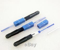 100pcs Sc Bleu Hot Melt Fibre Optique Rapide Connecteur Rapide Connecteur Telecom Ftth
