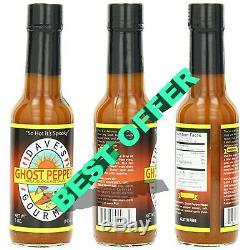 1x Hot Sauce Ghost Dave Pepper Naga Jolokia Gourmet Heat Fusion Insane 5 Oz