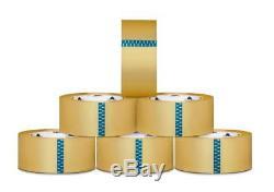 (216 Rouleaux) Ruban D'emballage Pour Scellage De Carton Thermofusible Transparent, 3 Po X 110 Verges, 1,9 MIL