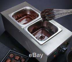 220 V 2 Réservoirs De Chocolat Commercial Melting Pot Électrique Chocolat Chaud Fondant