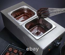 220v 2 Réservoirs Commercial Chocolat Melting Pot Electric Hot Chocolate Melter
