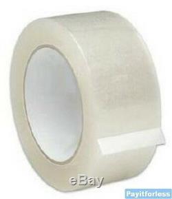2 X 110 Yds 1,9 MIL Effacer Thermofusibles Boîte Emballage Carton Ruban D'étanchéité 36 Rouleaux